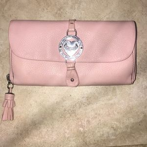 Juicy Couture Blush Pink Leather Trifold Wallet